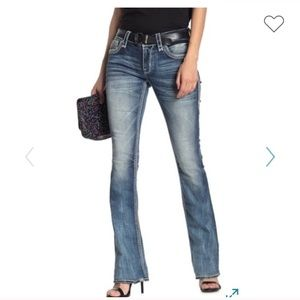 ROCK REVIVAL embellished boot cut jeans: NWT